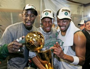 Kevin Garnett, Ray Allen, Paul Pierce